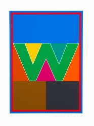 W from the Dazzle Alphabet Print