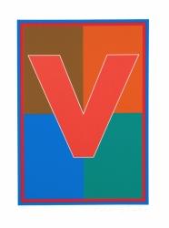 Dazzle Alphabet V Print
