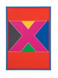 Dazzle Alphabet X Print