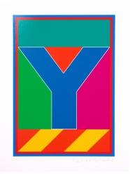 Dazzle Alphabet Y Print