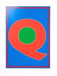 Dazzle Alphabet Q Print