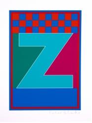 Dazzle Alphabet Z Print
