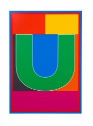 Dazzle Alphabet U Print