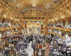 Marcel Duchamp's World Tour Series: New Years Evey Parade, at the Tower Ballroom  Blackpool Print