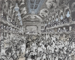 Marcel Duchamp's World Tour Series: The amimal's Fancy Dress Ball, the Tower Ballroom Blackpool Print