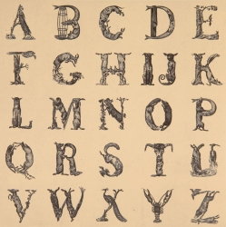Appropriated Alphabet 12 Print