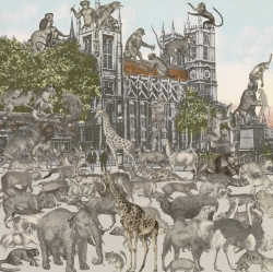 London Suite: Westminster Abbey - Animalia Print