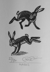 Hares Print