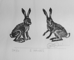 2 Hares Print