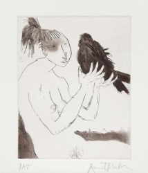 Women with Birds II Print