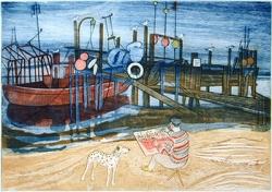 The Blythe Estuary, Walberswick Print