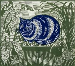 Blue Cat Print