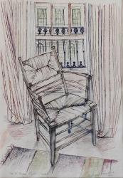 William Morris Chair Painting