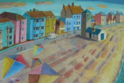 Flying Kites, Aldeburgh Painting