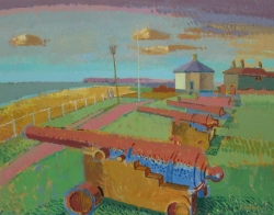 Gunhill, Southwold Painting by Ronald Hellen