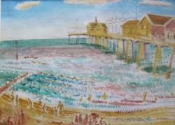 Southwold, Pier (watercolour) Painting by Ronald Hellen
