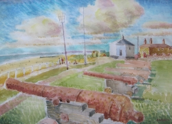 Gunhill, Soutworld Painting by Ronald Hellen