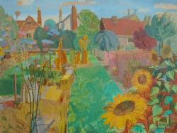 Summer in an Allotment Painting by Ronald Hellen