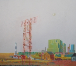 Boarded Tower, Dungeness Painting by Ronald Hellen