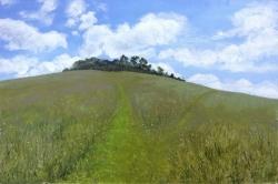 Landlines 9, Witterham Clumps Painting