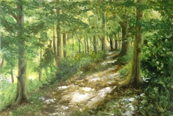 Ridgeway 10 Painting by Sally Pudney
