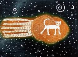 Cat on a Comet Print