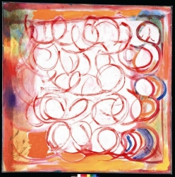 Red Circles Print
