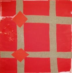 Red Melange Print