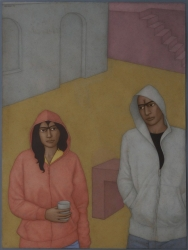Hoodies in a Square Painting
