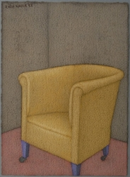 Golden Chair Painting