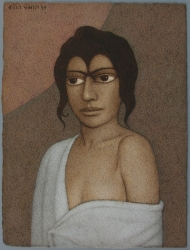 Woman in White Painting