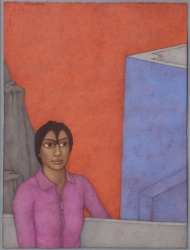 Beyond the Balcony Painting by Shanti Panchal