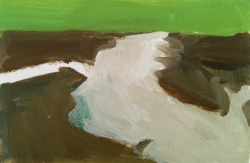 High Tide, Green Sky Painting