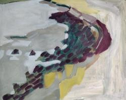 Seawall, Rock and Seaweed Painting