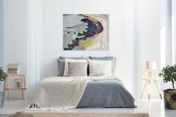 Seawall, Rock and Seaweed (interior setting) Painting