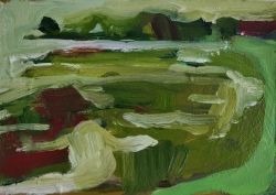 Saltings at High Tide Painting by Simon Carter