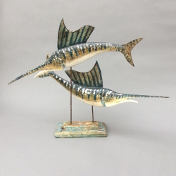 Pair of Sail Fish Sculpture
