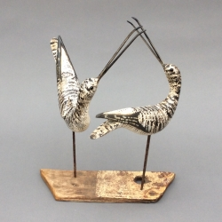 Courting Shorebirds Sculpture