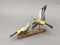 Yellow Wagtails Sculpture