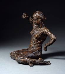 Stretching Figure Sculpture