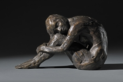Curled Figure Sculpture