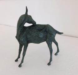 Goat Scratching Back Sculpture