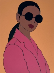 Pink Blazer Print