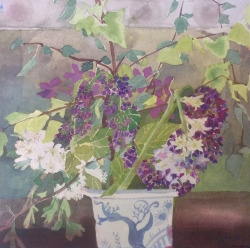 Spring Flowers with Lilac Painting