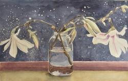 Magnolia on a Sunny Windowsill Painting
