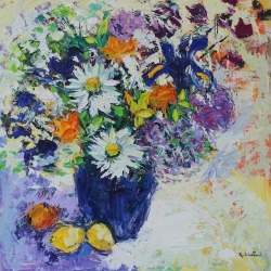 Allotment Flowers Painting