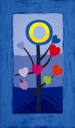 Blue Love Tree Print