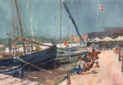 Wivenhoe Quay Painting