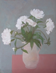 Peonies in a Tuscan Jug Painting by Wendy Jacob