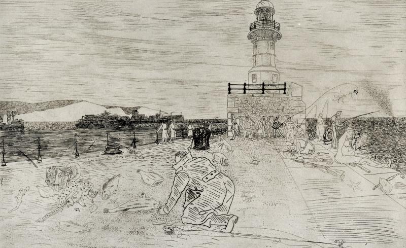 Fishing at Dover, 1941